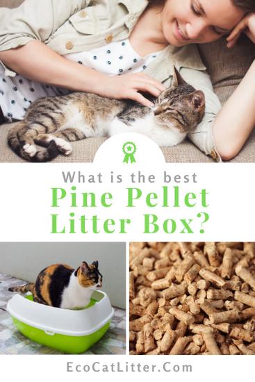 Pine pellet litter box for pellet cat litter